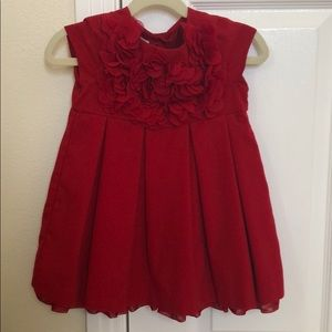 Red Pippa and Julie bubble dress.  Size 24 mos.